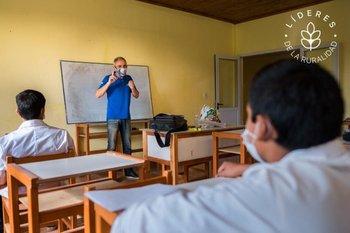 Bruno está convencido de que la educación es clave para generar arraigo en las zonas rurales.