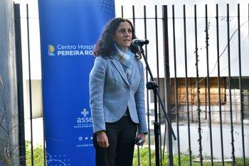 Azucena Arbeleche informó en conferencia de prensa que un contenedor con droga había sido detenido en España tras haber partido desde Uruguay