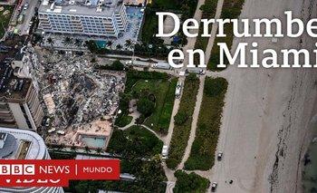 Edificio dañado tras el colapso
