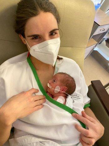 Jacinta pesó 1 kilo 410 gramos y conoció a su madre una semana después de haber nacido