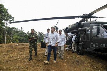 Foto de archivo. El presidente Iván Duque se encuentra bien