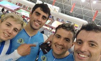 Roderick Asconeguy, Nahuel González, Diego González y Pablo Troncoso