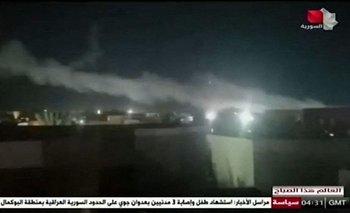 Imágenes de los ataques aéreos estadounidenses emitidas por la televisión siria