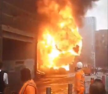 El incendio ocurrió en una estación de trenes