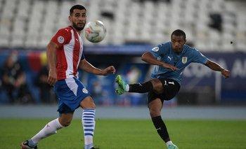 Nicolás de la Cruz en la selección durante la Copa América