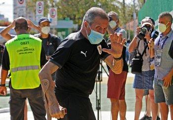 Oscar Tabárez, técnico de Uruguay