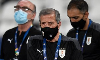 Óscar Tabárez en la Copa América 2021