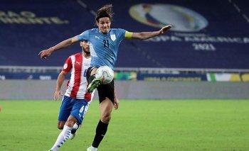 Edinson Cavani fue capitán celeste cuando salió Diego Godín