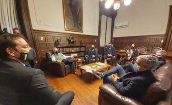 Ignacio Ruglio y José Decurnex en la última reunión que compartieron en el Ministerio del Interior