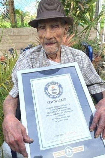 Con 122 años, Don Millo se convirtió en el hombre con más edad en el mundo para los récord Guinness