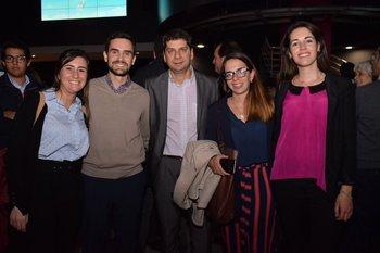Magela Fernández, Gusman Sarachaga, Giovani Jara, María Ruiz y Tanya Sena