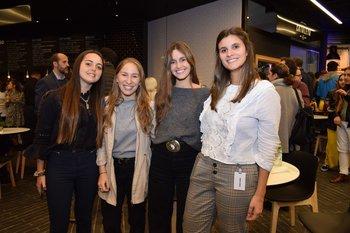 Romina Feóla, Inés Levrero, Milagros Abal y Camila Abreu