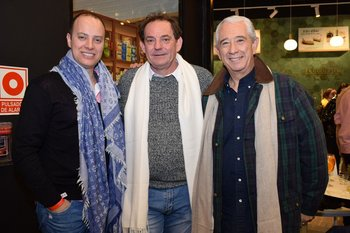 Horacio Correa, Laurent Lainé y Sergio Puglia