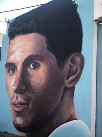 El mural de Torreira en Fray Bentos
