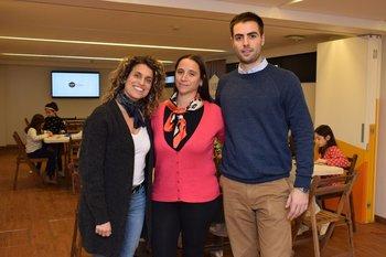 Amorina Baggi, María Lujan Raptis y Juan Manuel Parodi