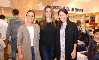 Anna Padin, Pierina Leites y Ximena Quintas
