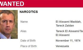 Aviso solicitando a Tarek El Aissami.