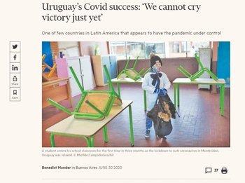 Uruguay fue destacado esta semana en un artículo del Financial Times