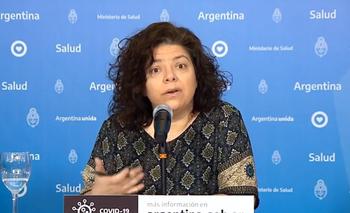Carla Vizzotti, secretariade Acceso a la Salud, del Ministerio de Salud argentino