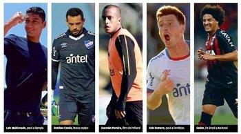 Luis Maldonado pasó a Rampla; Esteban Conde busca equipo; Guzmán Pereira libre de Peñarol; Colo Romero pasó a Rentistas; Gedoz de Brasil a Nacional