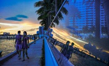 Una playa de Miami, en el estado de Florida, uno de los epicentros de la pandemia del coronavirus en Estados Unidos