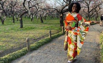 La jamaicana Danielle Thomas, de 28 años, llegó a Japón en 2016
