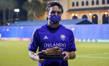 Mauricio Pereyra fue premiado como jugador del partido tras marcar su primer gol en la MLS