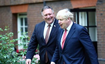 El primer ministro británico, Boris Johnson, recibió al secretario de Estado de Estados Unidos, Mike Pompeo