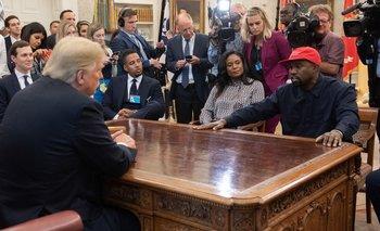 Kanye West junto al presidente de Estados Unidos, Donald Trump, en octubre de 2018