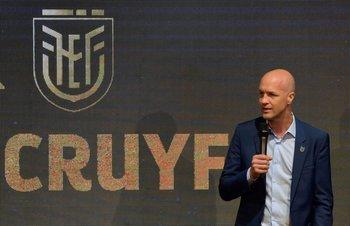 Jordi Cruyff en su presentación