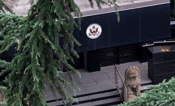 El consulado general de Estados Unidos en Chengdu