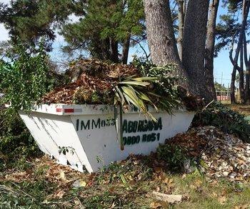 Volquetas en Carrasco dispuestas por la IMM para descomprimir a los contenedores acabaron en basurales