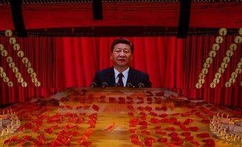 """""""Nunca permitiremos que alguien intimide, oprima o subyugue a China"""", dijo Xi Jinping en su discurso."""