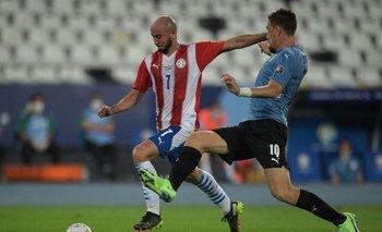 Coates en su debut en la actual Copa América, contra Paraguay