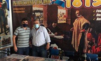 Andrés Lima y el secretario general de la Liga Federal, el diputado Sergio Mier