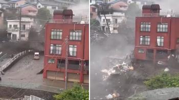 Se destruyeron al menos 10 casas.