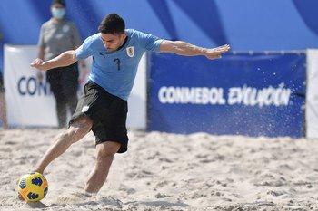 Lucas Quinta, en la final de las eliminatorias