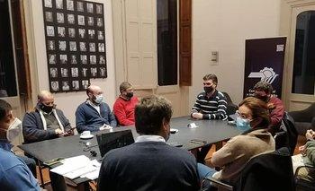 El intendente Lima reunido con empresarios locales