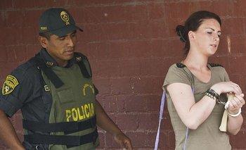 Michaella McCollum fue arrestada por intentar transportar 11 kilos de cocaína fuera de Perú.
