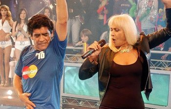 Diego Maradona y Raffaella Carrá