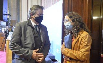 El ex ministro de Ganadería y su compañera de bancada, Carmen Sanguinetti