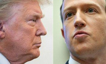 Donald Trump y Mark Zuckerberg.