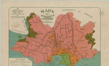 Mapa del Departamento de Montevideo, editorial Oriental (1918)