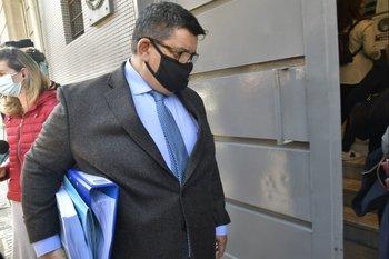 La presidenta de UTE Emaldi presentó la denuncia acompañada del penalista Jorge Barrera.