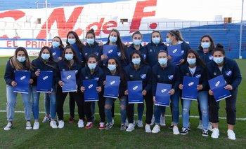 Las jugadoras de Nacional, últimas campeonas uruguayas de Primera división