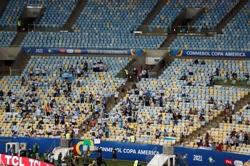 El Maracaná con público para la final