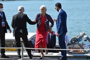 La presidenta del Banco Central Europeo, Christine Lagarde, fue una de las asistentes a la cumbre de ministros de economía y finanzas del G20, que se desarrolló entre viernes y sábado en Venecia