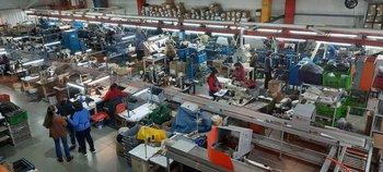La planta industrial de calzados Lombardino en Santa Lucía.