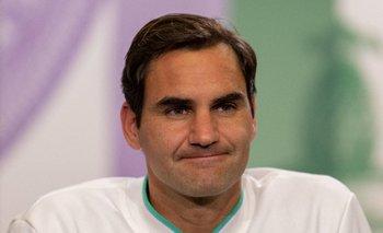 Roger Federer en su paso por Wimbledon 2021