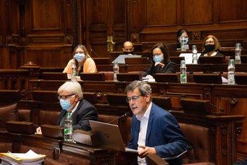 Jorge Díaz exponiendo sobre la Rendición de Cuentas